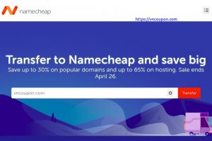 Namecheap Transfer Week Sale – Save up to 30% on popular domains and up to 65% on hosting