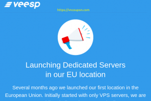 Veesp – First Dedicated Server in Europe is now on sale only $120/month
