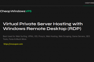 CheapWindowsVPS – 50% OFF Windows VPS Offers from $4.5/month with Unmetered Bandwidth in 8 Locations