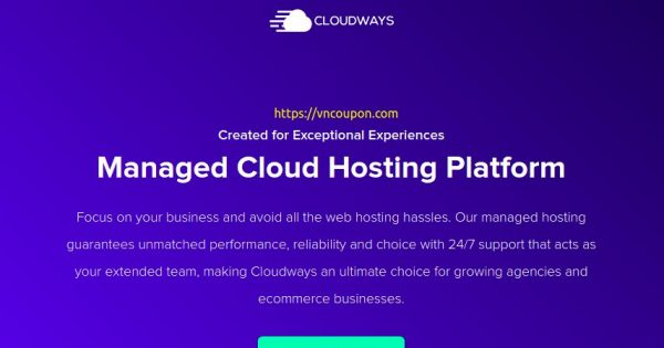 Cloudways Coupon Codes on September 2021 – 30% Off Coupon, $30 USD Free Credits