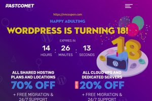 [WordPress Birthday] FastComet – 70% OFF all new Shared Hosting & 20% OFF all new Managed SSD Cloud VPS, Dedicated Servers
