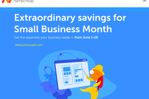 Namecheap Small Business Month Sale – Up to 97% off Domains & 59% off Hosting & Email – .COM Registration only $3.98 /year