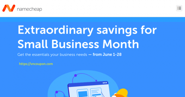 Namecheap Small Business Month Sale – Up to 97% off Domains & 59% off Hosting & Email
