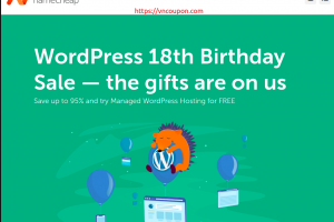 [WordPress 18th Birthday Sale] Namecheap – Save up to 95% and try Managed WordPress Hosting for FREE
