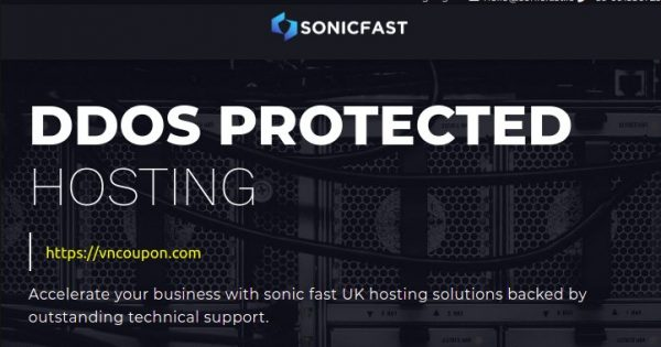 SonicFast – Special VPS Offers from €15/year