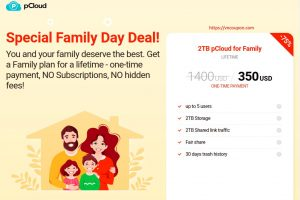 pCloud Special Family Day Deal! 75% Off Cloud Storage