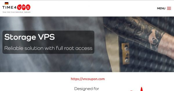 Time4VPS – 50% OFF Recurring Discount on Storage VPS from €15/year