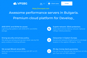 VPSBG – 50% Off Cloud VPS from €5/month in Bulgaria