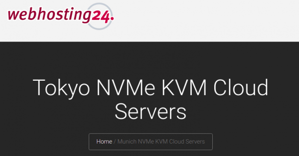 Webhosting24 – Special Ryzen VPS from €15/year in Tokyo