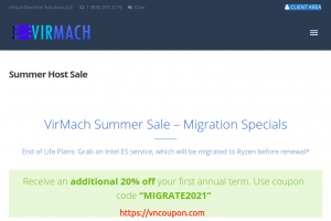 [Summer Sale] VirMach – Special Ryzen VPS Offers from $9/Year – Additional 20% off your first annual term