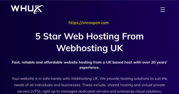 (WHUK) WebHosting UK – 50% OFF All Web Hosting on July 2021