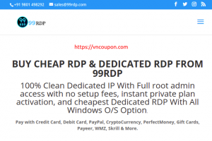 99RDP – 30% One Time Discount on RDP Service