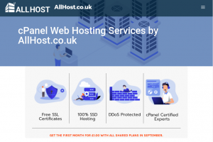 AllHost – Cheap cPanel Hosting from £10/Year