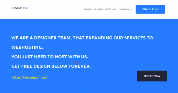 DesignHost – 50% Off Recurring Discount on Shared Hosting only $7.49/Year