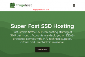 FrogeHost Shared Hosting Offers from $20/year