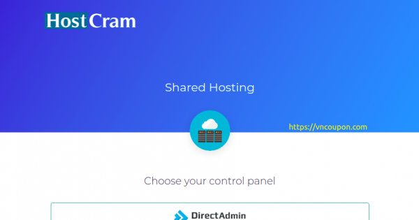 HostCram Shared Hosting – 50% One Time Discount + Special DirectAdmin Shared Hosting offer only $10/Year