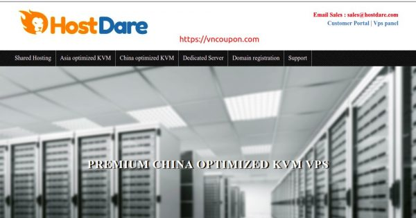 HostDare – Promotional Premium China Optimized KVM VPS from $44.99 USD/Year + 10% Extra Coupon