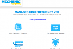 MechanicWeb – Save up to $30 One Time Discount on Fully Managed VPS Hosting
