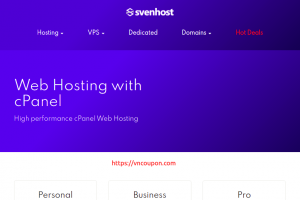 SvenHost – Special Shared Hosting from $6/Year + Flat 65% Discount Coupon Code