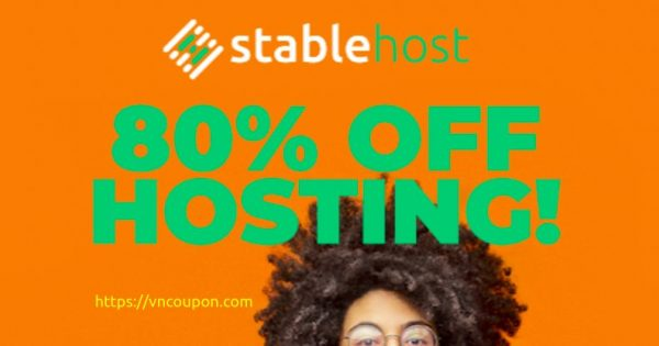 Save off 80% on Shared Hosting from StableHost + Free Domain 1st Year