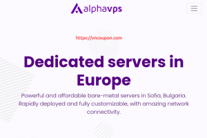 [End Of Summer Sale] AlphaVPS – Special EU Dedicated Servers from 49EUR/month – E5-2630Lv2 / 64GB RAM / 480GB SSD