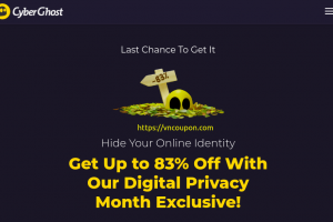 CyberGhost VPN – Save 83% + 2 extra months free VPN Services