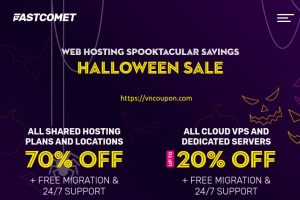 [Halloween 2021 Sale] FastComet – 70% Off All Shared Hosting – 30% Off All Cloud VPS And Dedicated Servers
