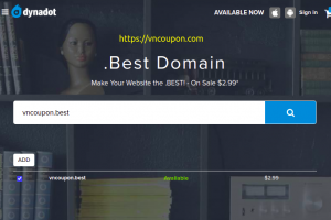 Get a .BEST Domain for only $2.99 from Dynadot!