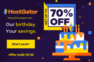 [Snappy's Birthday Sale] HostGator – 70% off ALL 12-36 Month Shared Hosting Packages