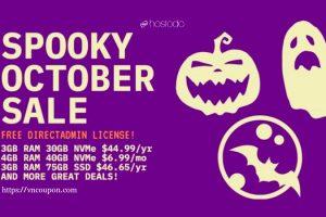 Hostodo Spooky October Sale – NVMe KVM VPS Promo from $44.99/Year (2 vCPU +  3GB RAM + 30GB NVMe Space)