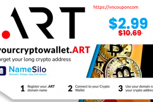 [Flash Sale] Find your .ART domain name for $2.99 (regular price $10.69) at NameSilo!