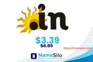 Save 51% on .IN domain names at NameSilo!