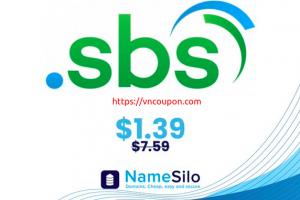 [Flash Sale] Get your .SBS Domain for only $1.39 (regular price $7.59) at NameSilo