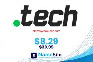 Get your .TECH domain name for $8.29 at NameSilo!