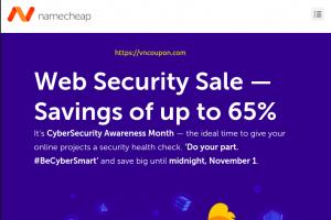 [Web Security Sale] Namecheap – Savings of up to 65%