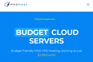 PNZHost – 40% Off Recurring Any of Cloud VPS Hosting
