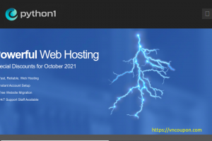 Python1 – Special cPanel Web Hosting from $9.99/Year (80% Off)