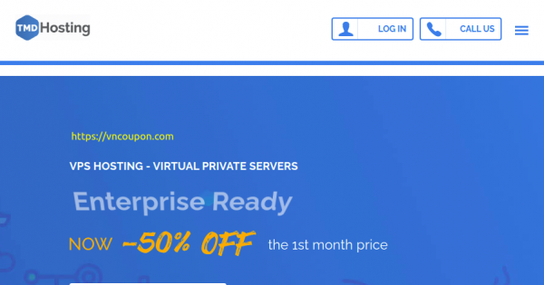 TMDHosting – 50% Off first month on Fully Managed VPS Hosting from $19.97/month + 7% Extra Coupon Code